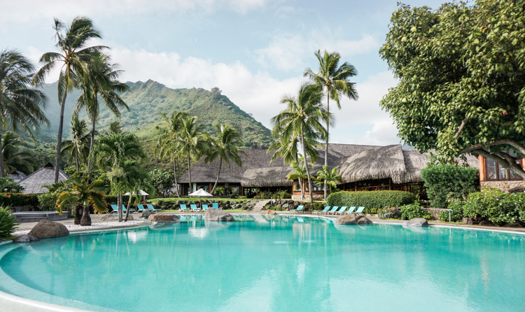 Pool at the Hilton Moorea by Shannon Skloss