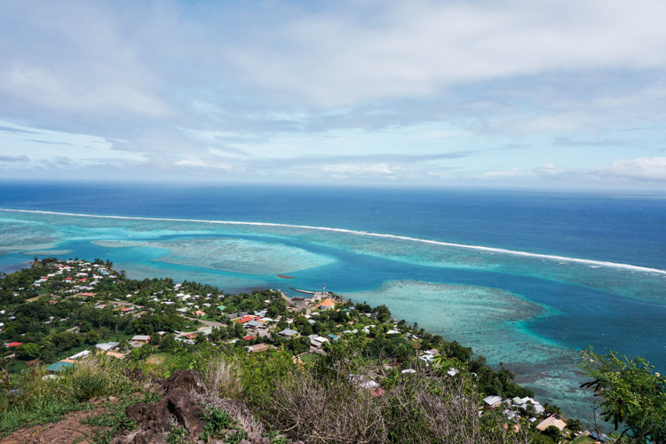 View of Moorea reefs by Shannon Skloss