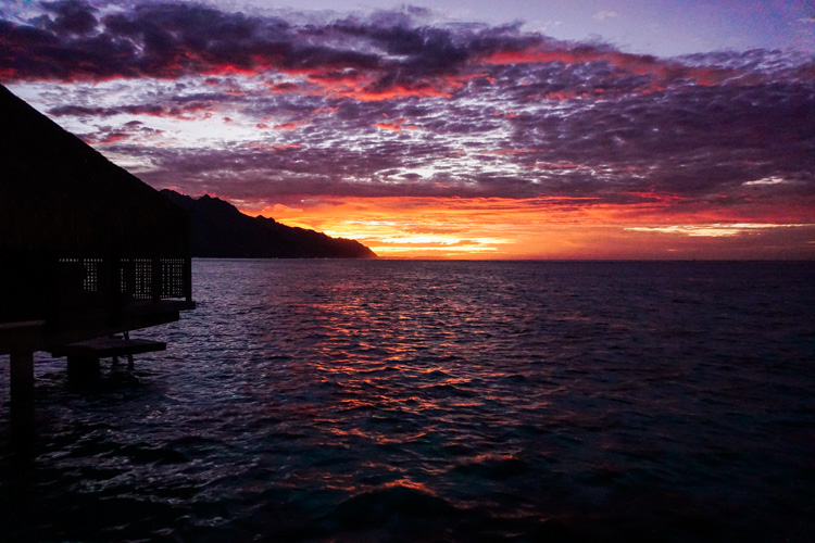 Sunset at the Hilton Moorea by Shannon Skloss Photography