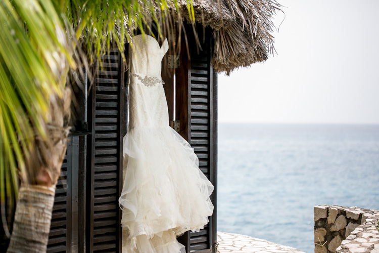 Vera Wang Lillian gown at Rockhouse Hotel