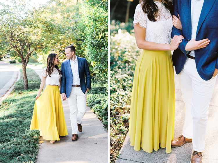 Engagement session at Prather Park in Dallas by Shannon Skloss