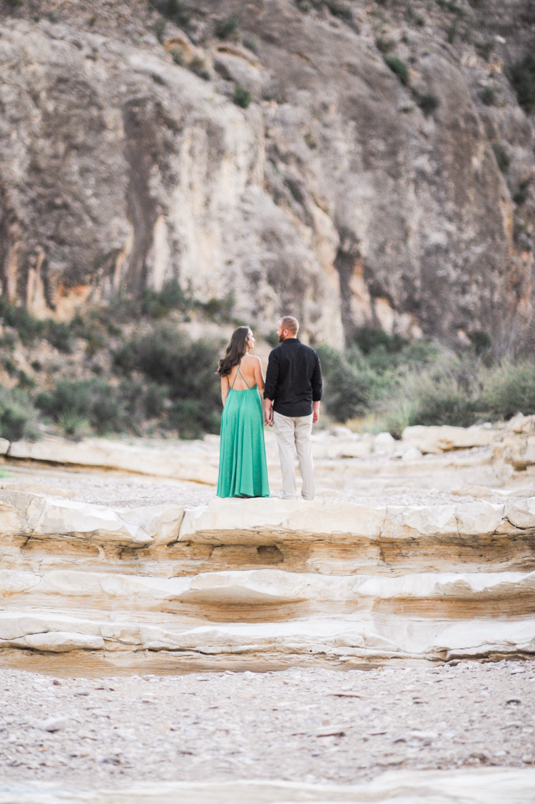 slot canyon engagement photo by Shannon Skloss in Big Bend