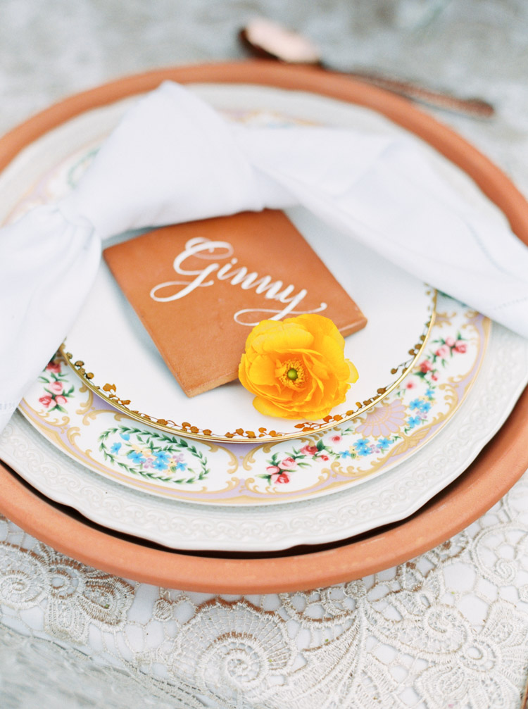 Tile escort cards for wedding