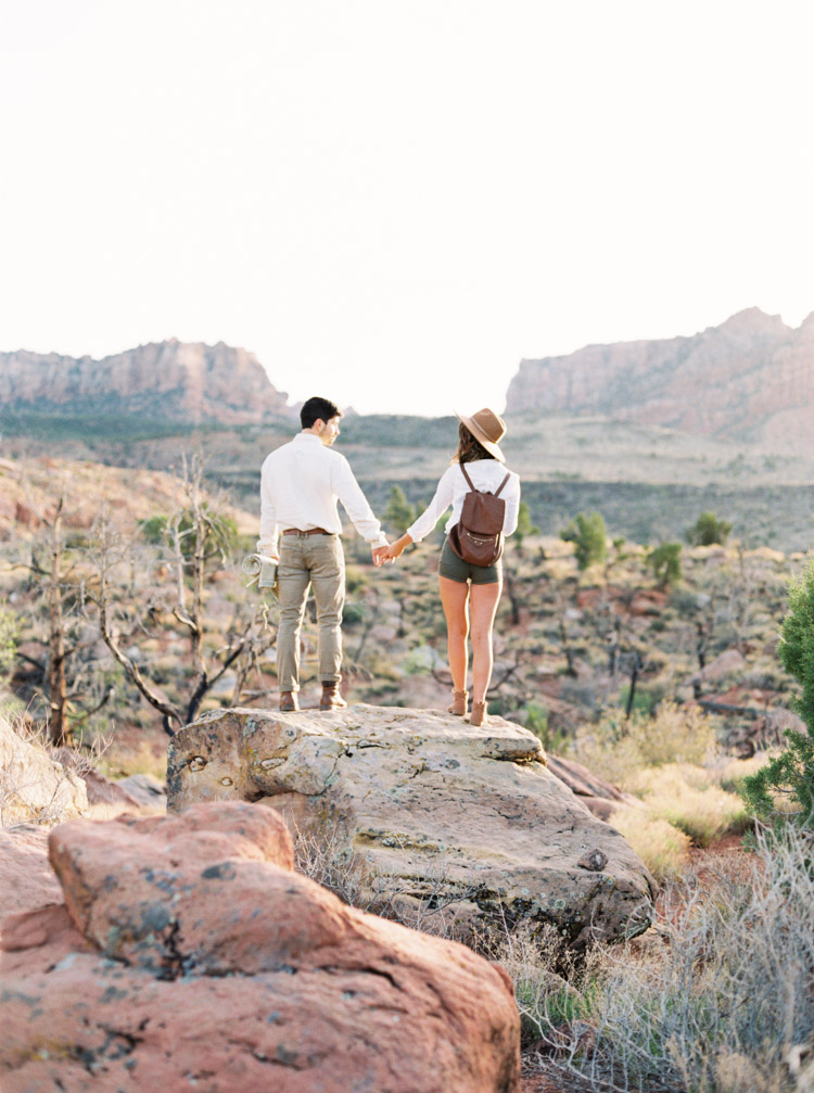 Zion National Park engagement session photos by Shannon Skloss