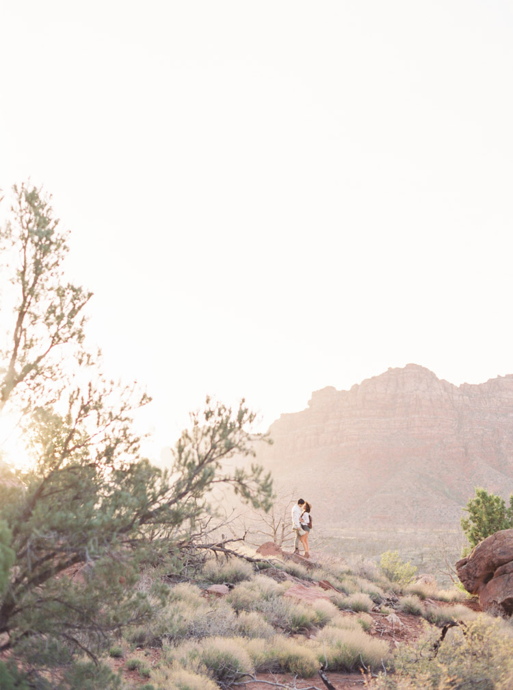 Zion National Park engagement session photos by Shannon Skloss on a Contax 645